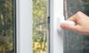 hand opening tinted glass door
