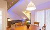 modern home with mounted lighting