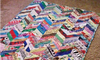 quilt laying on the floor