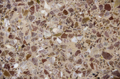 close up view of terrazzo flooring