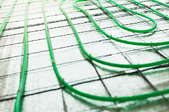 A radiant heat system.