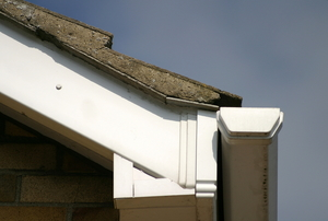 A soffit on a house.