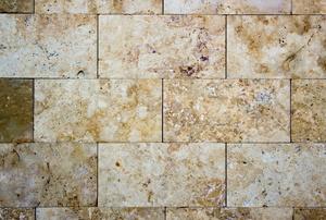 Travertine floors.