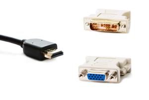 VGA and HDMI plugs