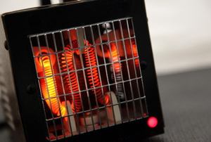 An infrared space heater.