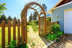 A garden arbor.