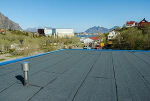 a flat roof