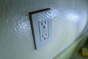 A GFCI outlet.