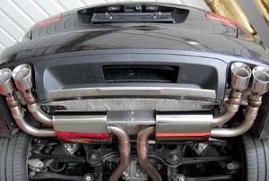 closeup of a car's Exhaust Valves