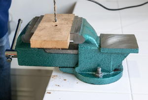 A bench vise.