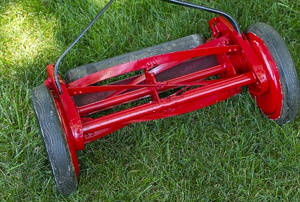 A lawn roller.