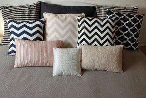 Suede pillows.