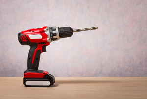 cordless power drill on desk
