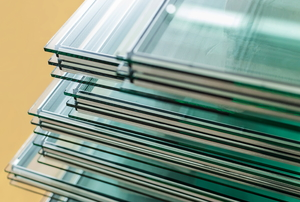 Stacks of tempered glass.