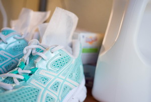 dryer sheets inside running shoes