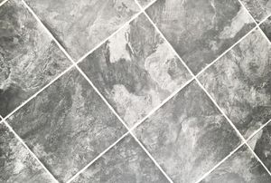 Vinyl tiles with a marble look.