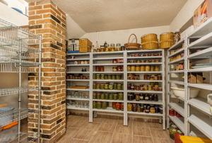 A closet pantry.
