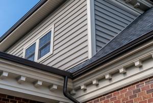 molding on exterior cornice