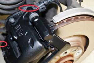 A brake caliper.