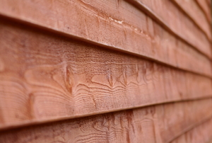 horizontal wood siding on a building