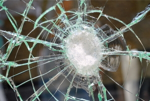 cracked impact resistant glass