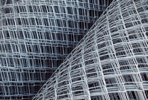 Rolls of wire mesh fencing