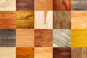 squares of different kinds of flooring