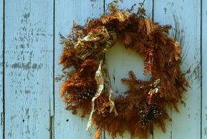 A handmade wreath.