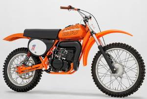 an orange Motorcycle