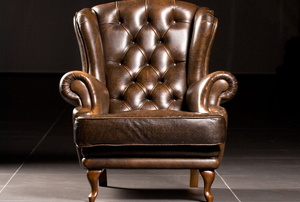 A leather armchair.