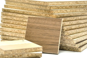 a pile of particle board