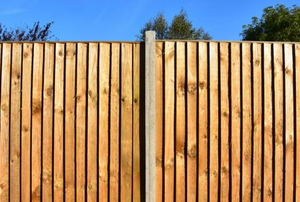 tall wood fence