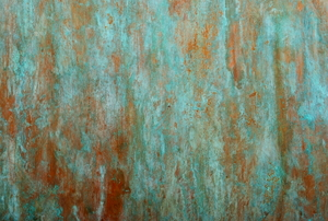 A green and red copper background.
