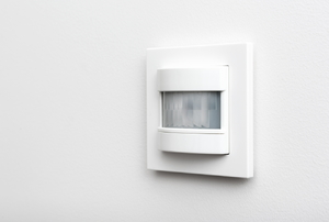 motion sensor on a wall
