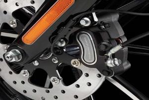 brake caliper on a Harley motorcycle