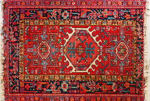 a red persian rug