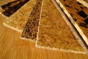 Cork flooring options.