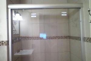 A renovated bathroom.