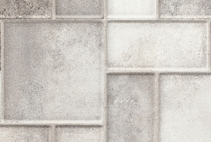 A glazed porcelain tile.