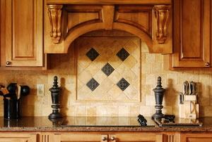 A tile backsplash pattern.