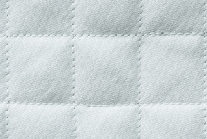 white quilted cotton