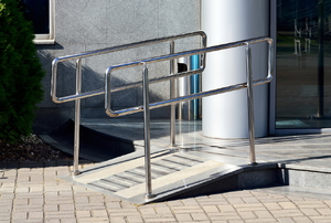 A wheelchair ramp.