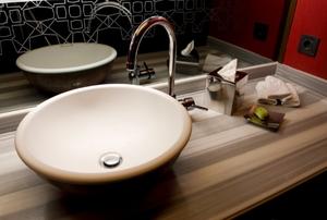 vanity in a bathroom