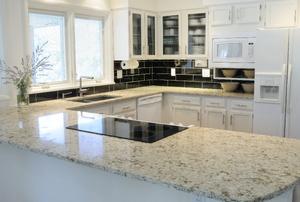 A granite countertop.