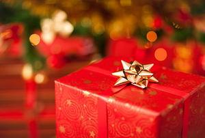 Sparkling christmas present