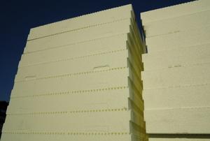 Foam board in rows.