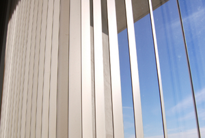 vertical blinds on a window