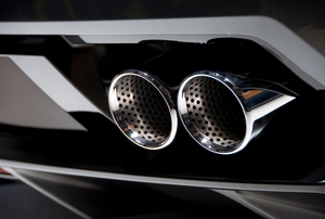 Chrome car exhaust pipes