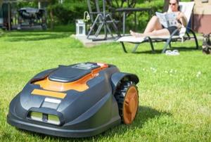 A lawn mower.