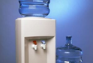 Water cooler and large bottles